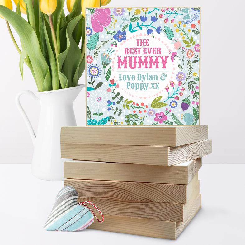 Personalised Wooden Picture Blocks | handmade freestanding wooden shelf blocks, beautifully illustrated - PhotoFairytales