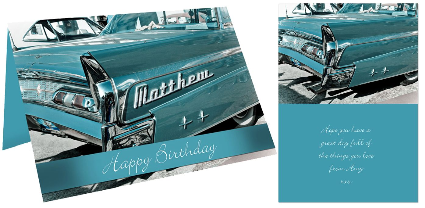 Retro Car personalised gift card | from PhotoFairytales