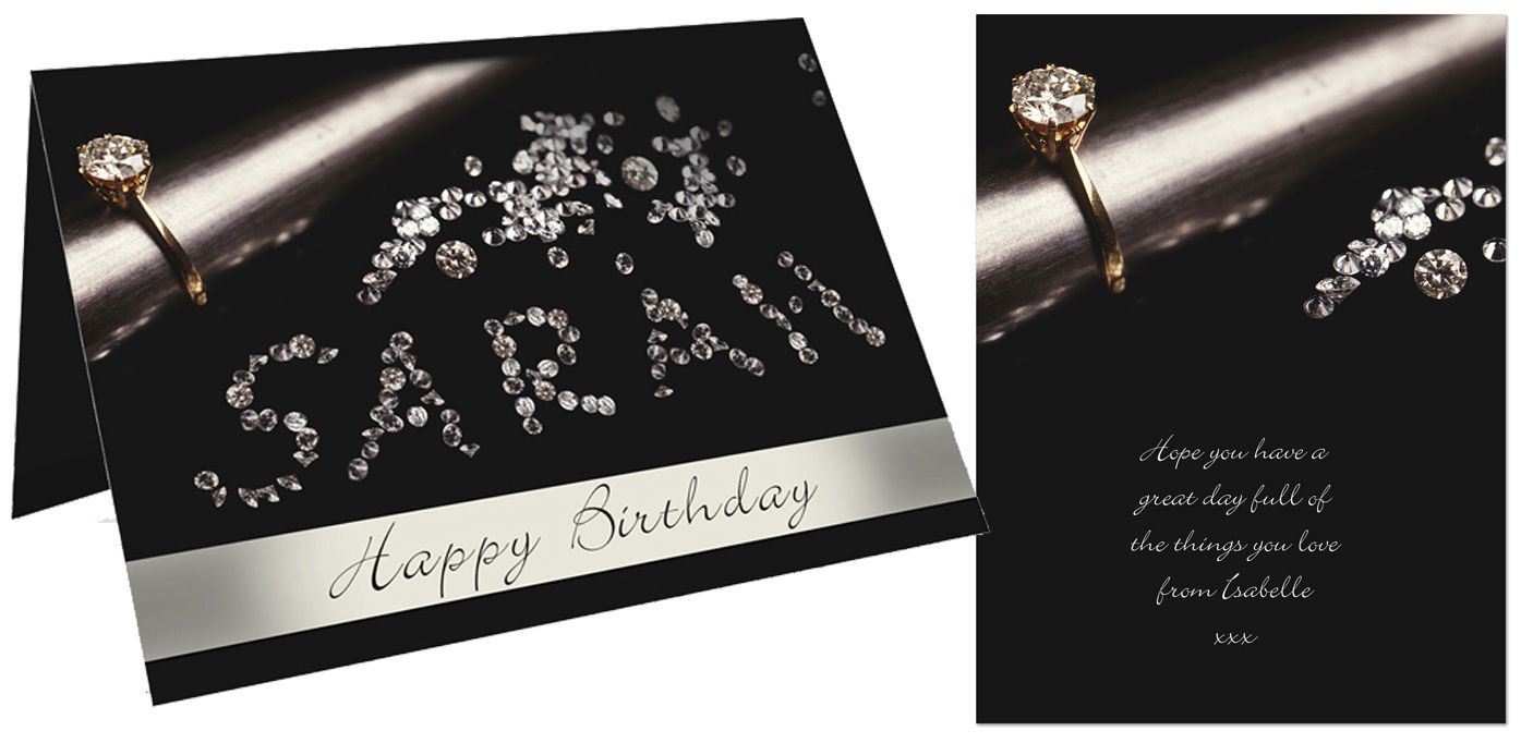 Diamonds personalised gift card | from PhotoFairytales