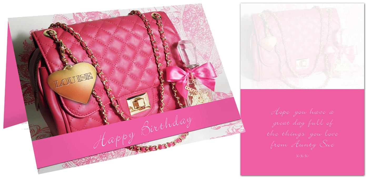 Handbag personalised gift card | from PhotoFairytales