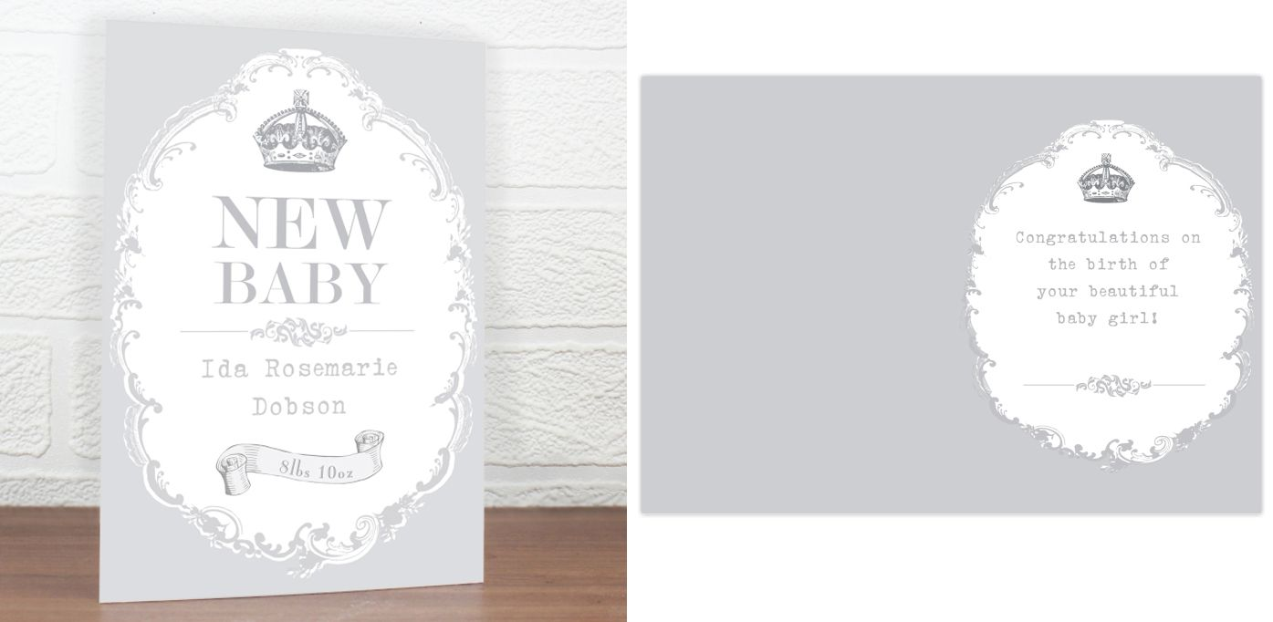 New Baby personalised gift card | from PhotoFairytales