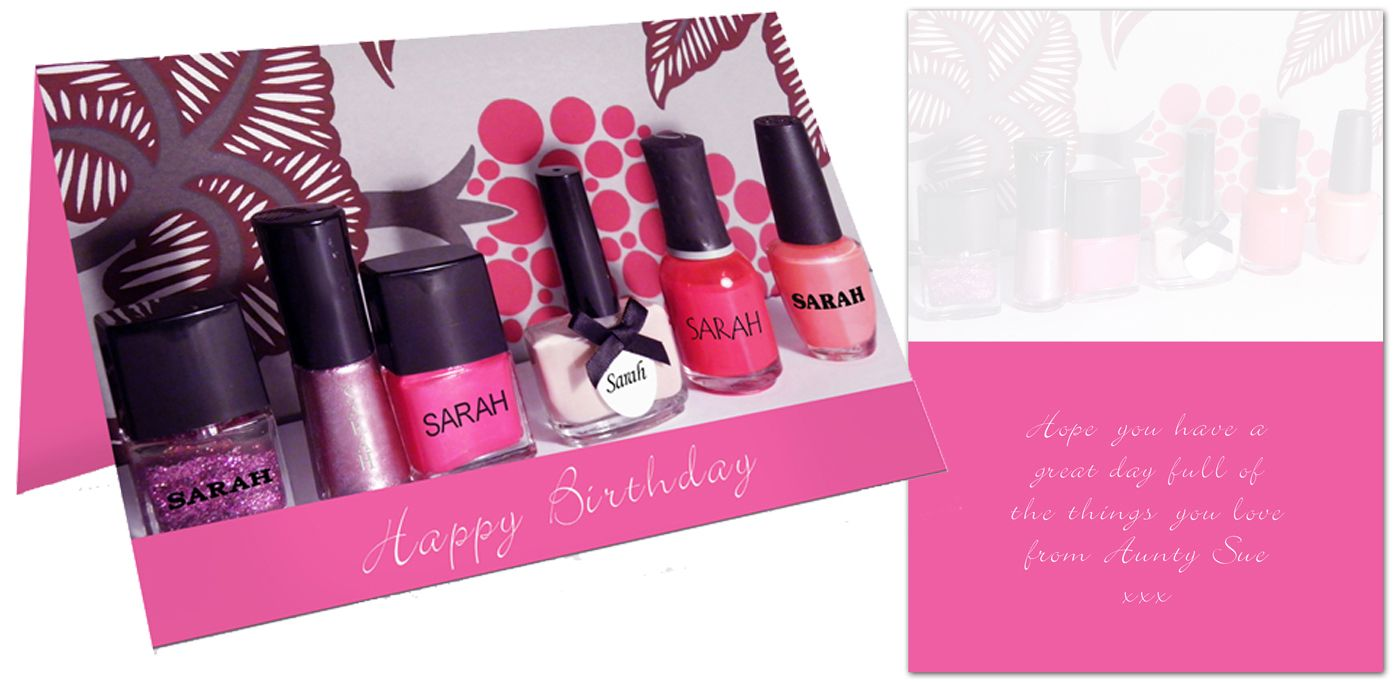 Nail Polish personalised gift card | from PhotoFairytales