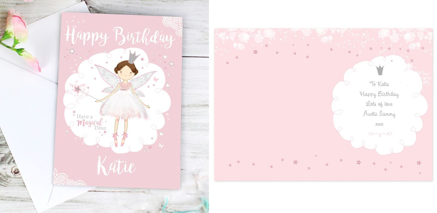 Fairy Princess personalised gift card | from PhotoFairytales