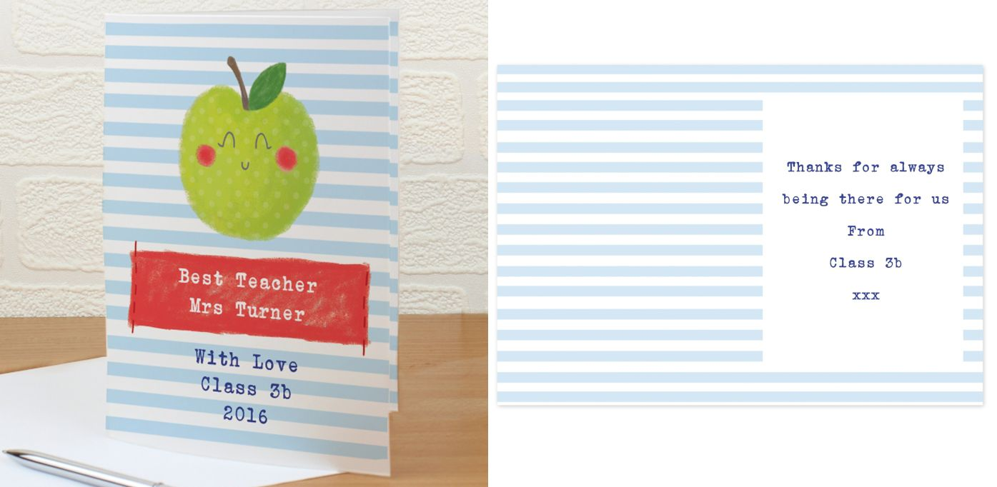 Thank You Teacher personalised gift card | from PhotoFairytales