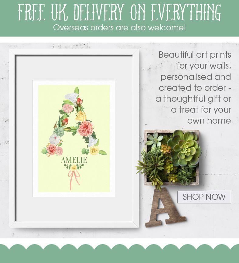 Personalised prints | personalised wall art | personalised nursery art | personalised gifts from PhotoFairytales