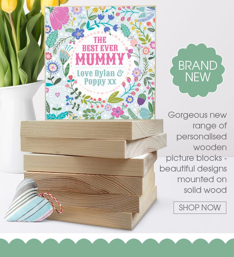Personalised handmade wooden picture blocks | freestanding picture blocks | personalised gifts PhotoFairytales