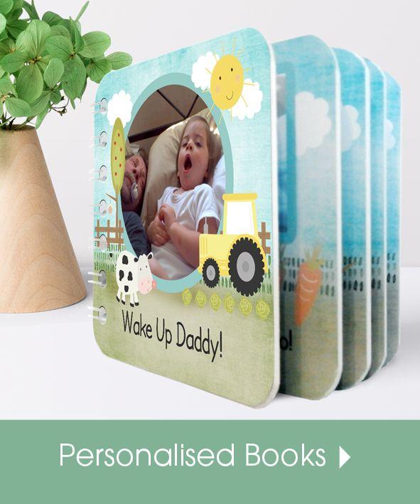Personalised handmade baby board books | made in Britain | PhotoFairytales