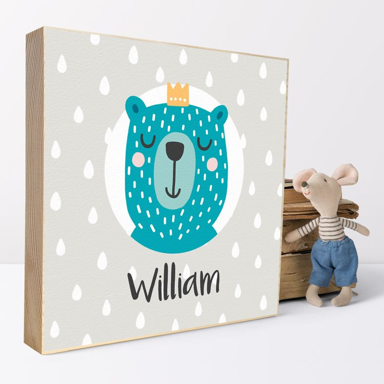 Personalised Wooden Picture Blocks | handmade freestanding wooden shelf blocks, beautifully illustrated - from PhotoFairytales