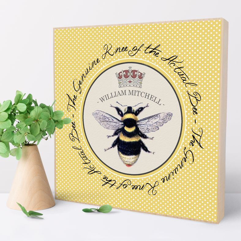 Bee's Knees | Personalised wooden picture blocks | freestanding handcrafted picture blocks | PhotoFairytales