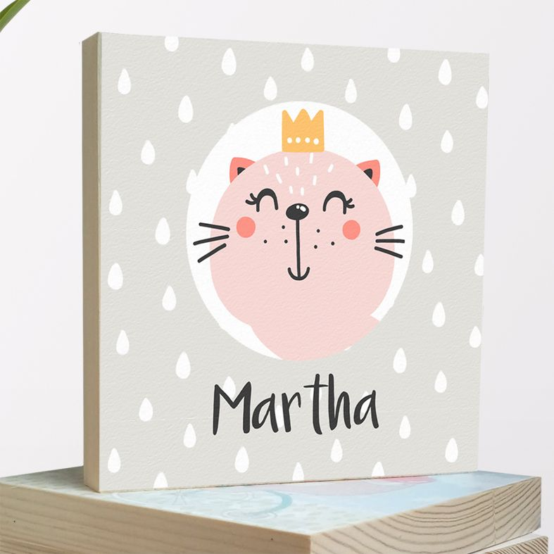 Personalised nursery decor | wooden picture blocks from PhotoFairytales