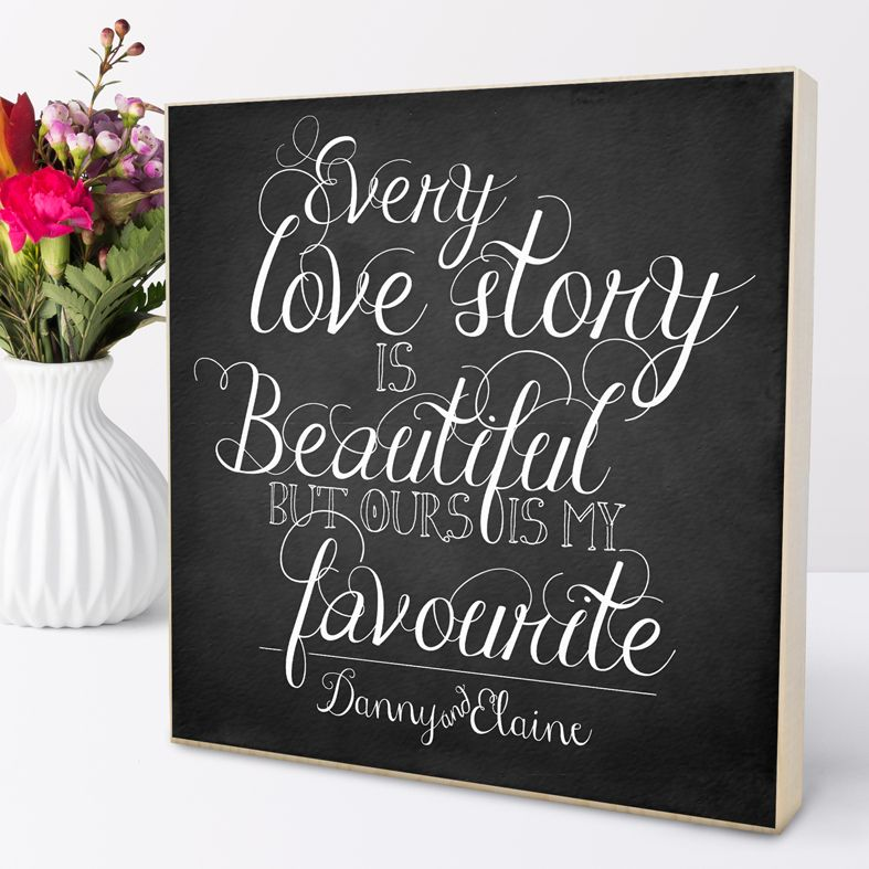 Personalised anniversary gift | Love Story | Personalised wooden picture blocks | freestanding handcrafted picture blocks | PhotoFairytales