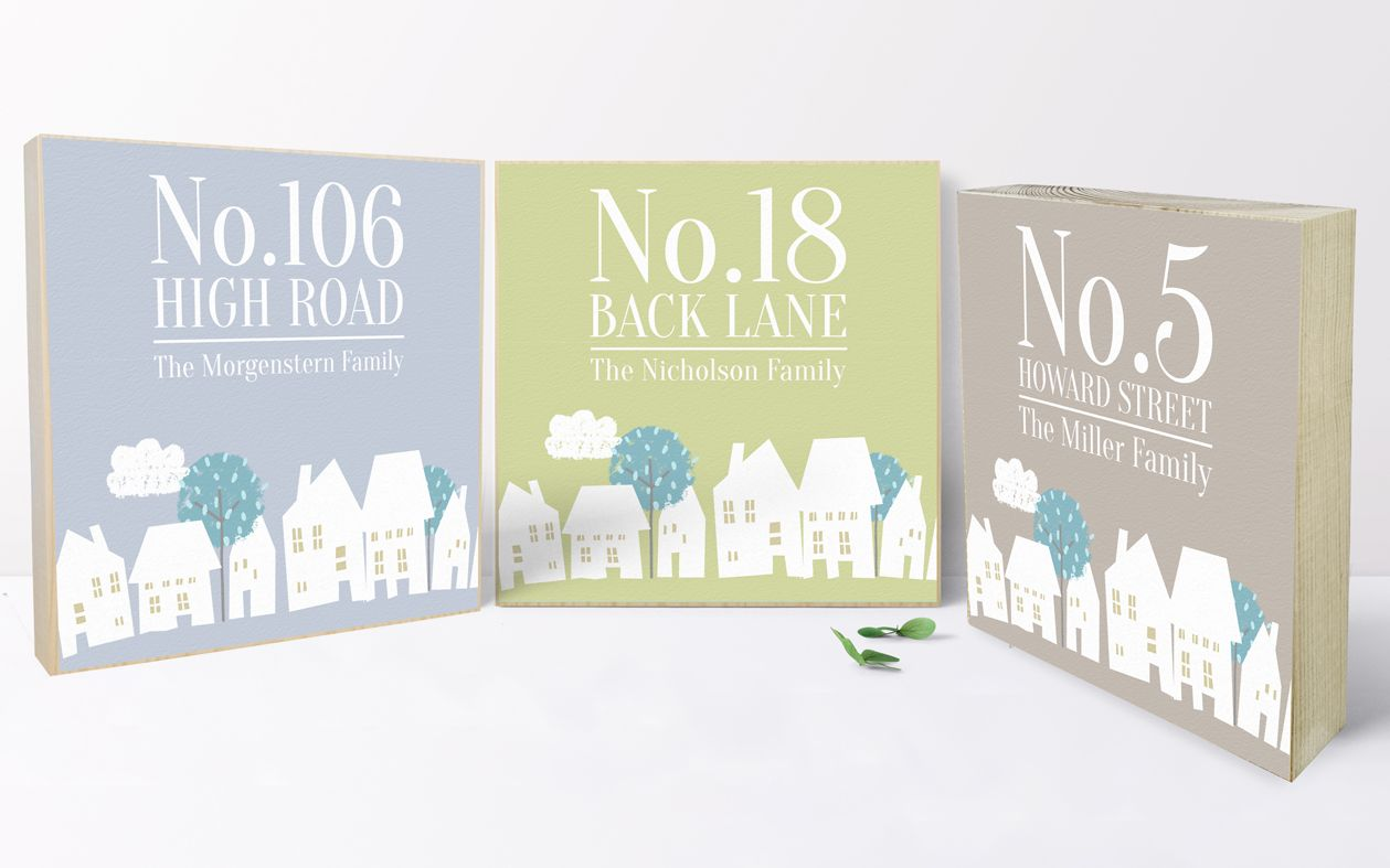 Personalised new home gift | Personalised wooden picture blocks | freestanding handcrafted picture blocks | PhotoFairytales