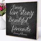 Personalised wedding gift wooden picture blocks | from PhotoFairytales