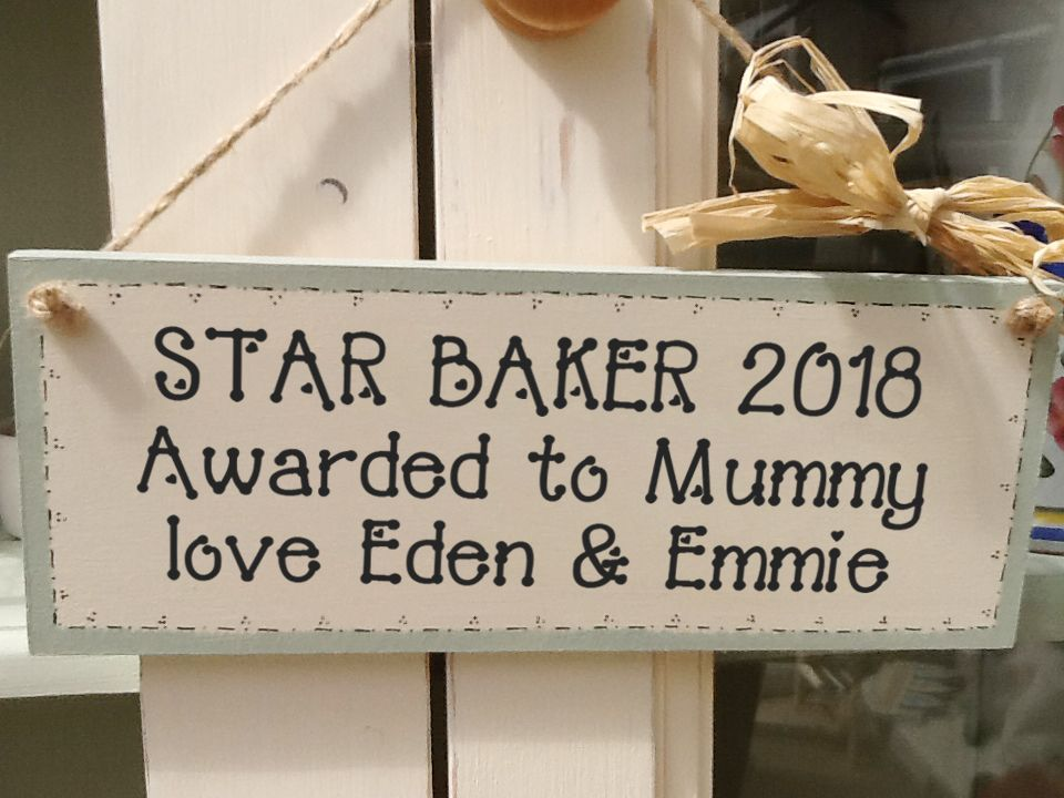 Personalised wooden baking cooking sign | wooden kitchen plaque | PhotoFairytales