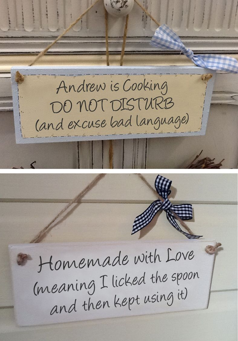 Personalised wooden baking cooking sign | wooden kitchen plaque humour | PhotoFairytales