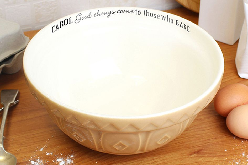 Personalised ceramic mixing bowl | personalised gift for cook baker baking | PhotoFairytales