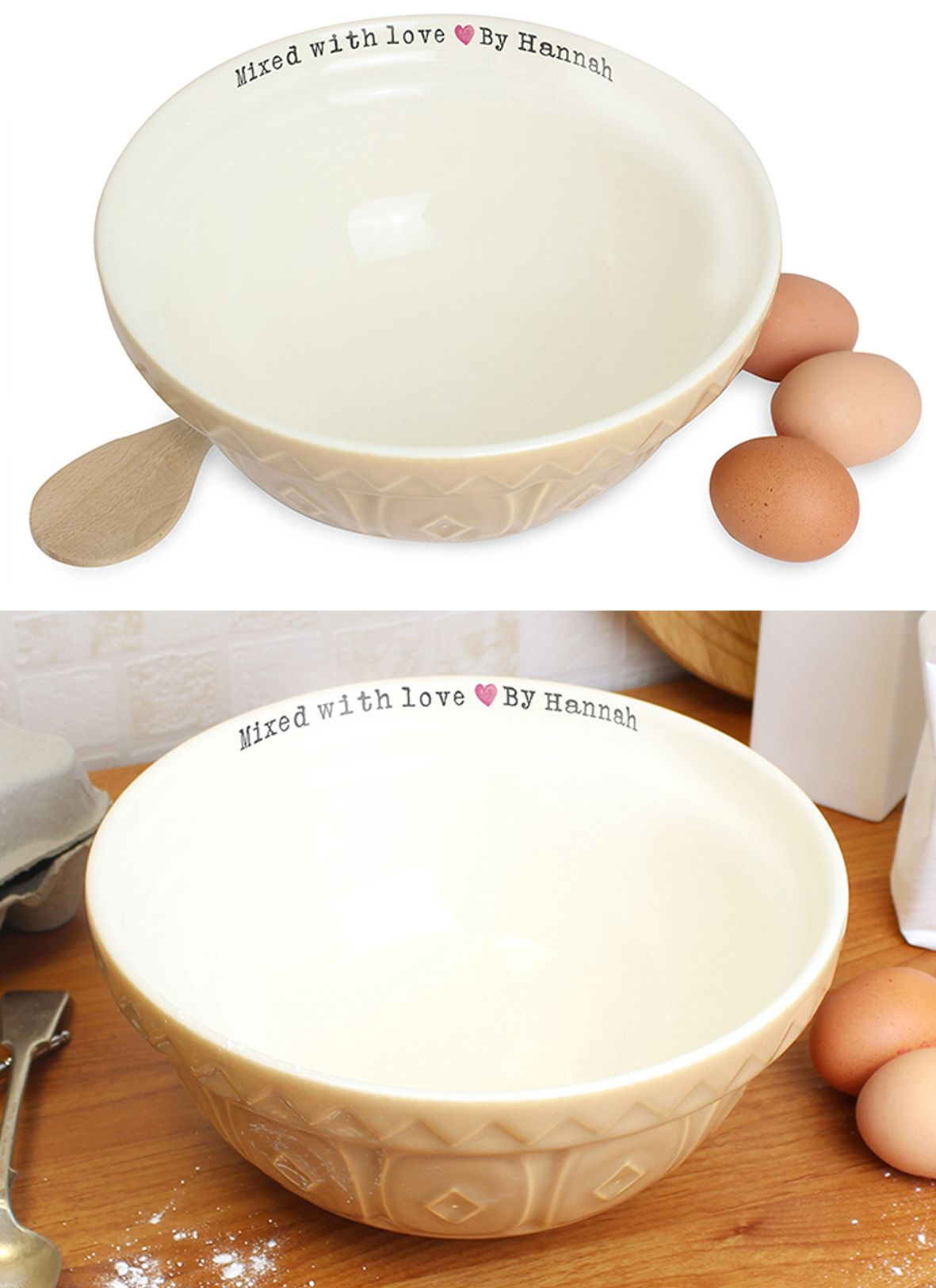 Personalised ceramic mixing bowl kitchenware | gift idea for cook cooking baking | PhotoFairytales