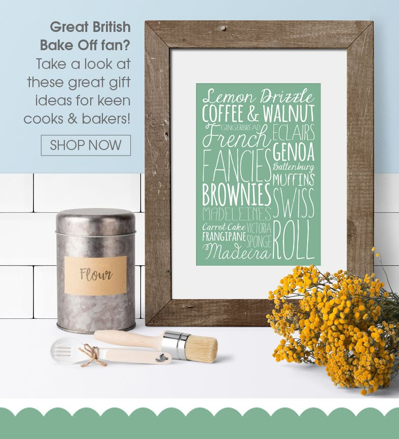 Personalised gifts for cooks bakers baking | Great British Bake Off | food lover gift ideas | PhotoFairytales