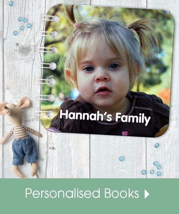 Personalised handmade baby board books | made in Britain | PhotoFairytales