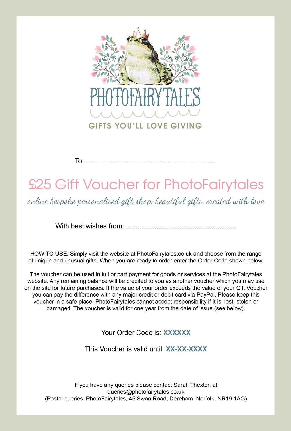 PhotoFairytales Gift Voucher