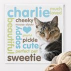 Personality personalised photo canvas print gift