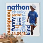 Personalised Photo Canvas word art