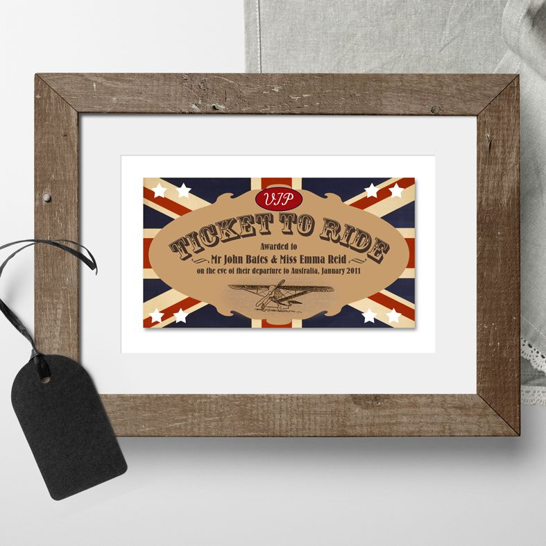 Personalised Ticket to Ride print | PhotoFairytales