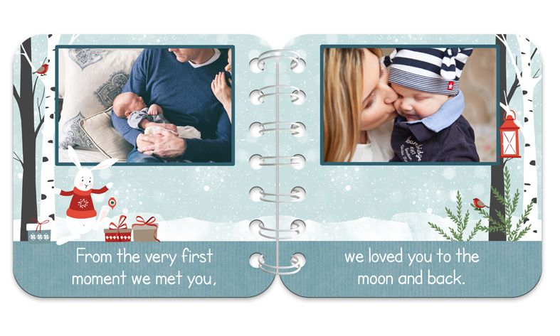 Christmas Friends Personalised Baby Board Book | handmade board books, made to order, range of designs available, by PhotoFairytales.