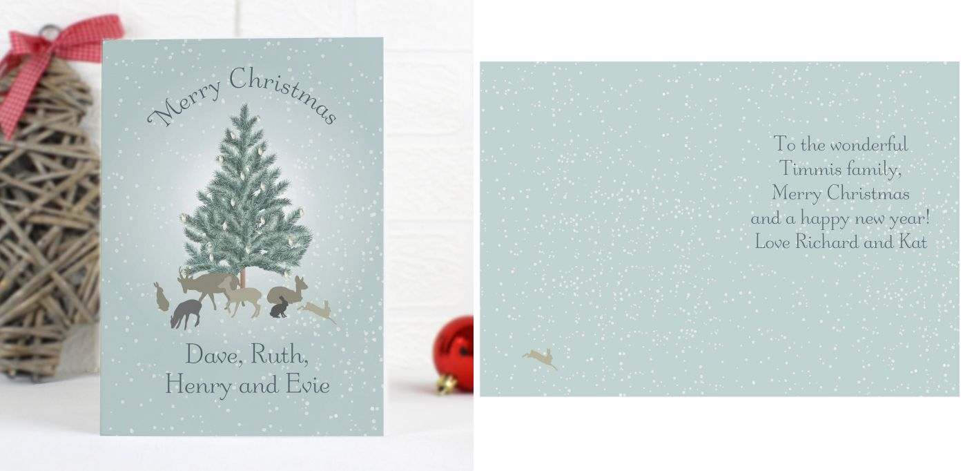 A Winters Tale personalised greeting card | from PhotoFairytales