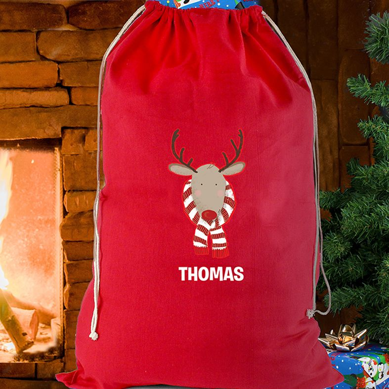 Personalised Christmas Reindeer Sack from PhotoFairytales