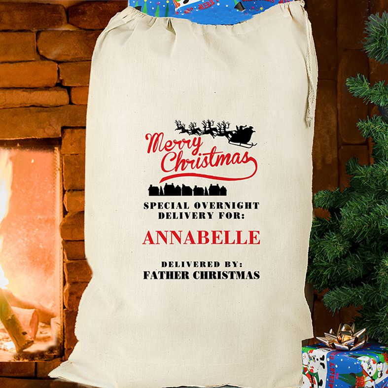 Personalised Christmas Father Christmas Sack from PhotoFairytales