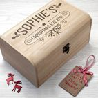 Personalised Christmas  Eve Wooden Box Chests from PhotoFairytales