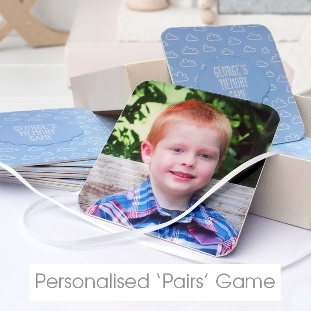 personalised Memory Pairs Card Game | personalised baby child gifts from PhotoFairytales