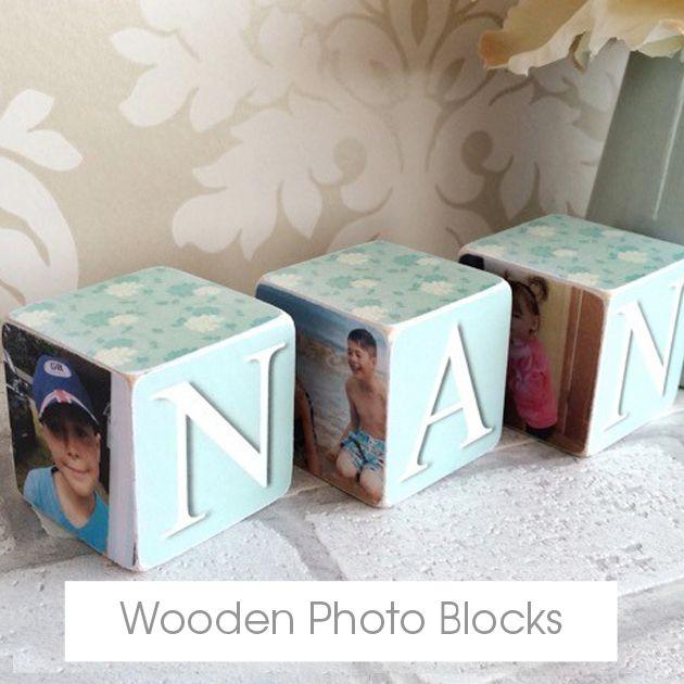 Personalised handmade Wooden Photo Blocks   made in Britain   PhotoFairytales