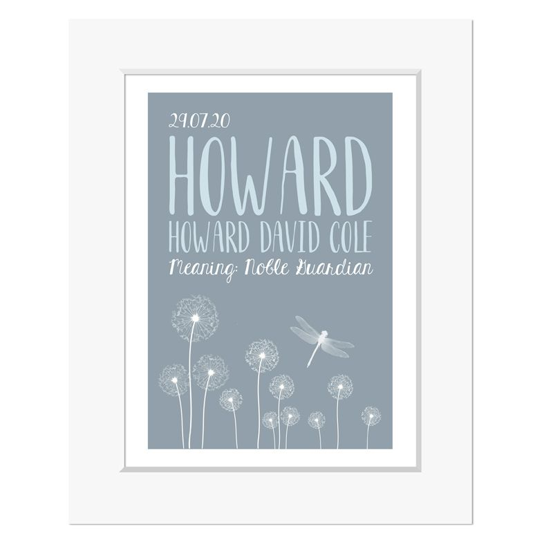 Dandelion personalised meaning of name christening gift