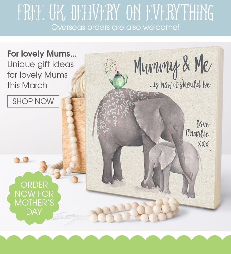 Personalised Mothers Day gifts | customised bespoke gifts from PhotoFairytales