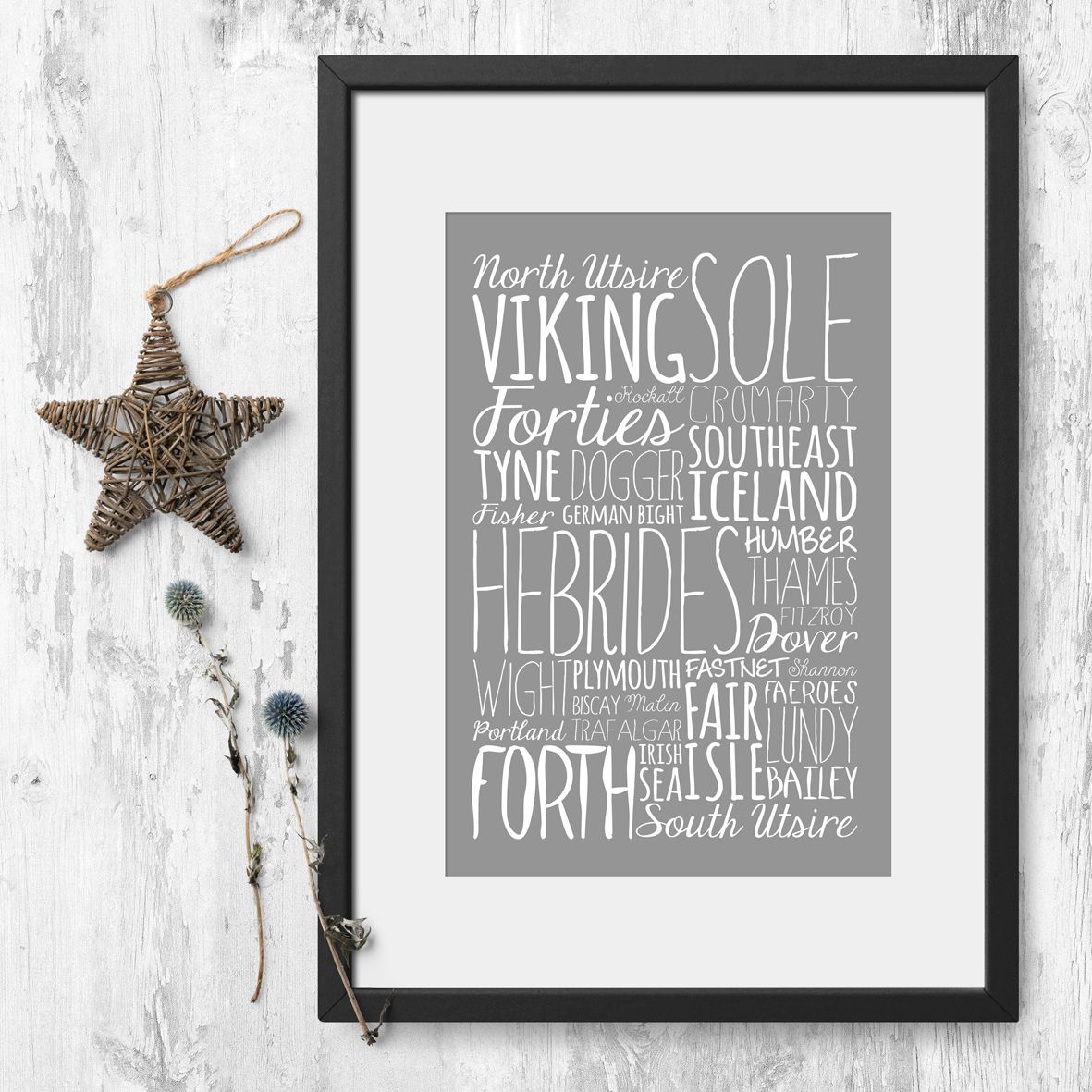 Shipping Forecast Bespoke Word Theme prints for him | PhotoFairytales