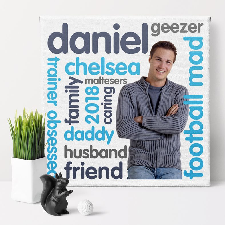 Personality personalised photo canvas word art gift