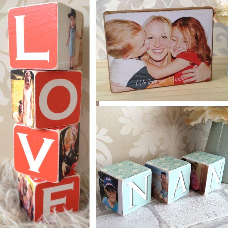 Personalised Wooden Photo Blocks from PhotoFairytales