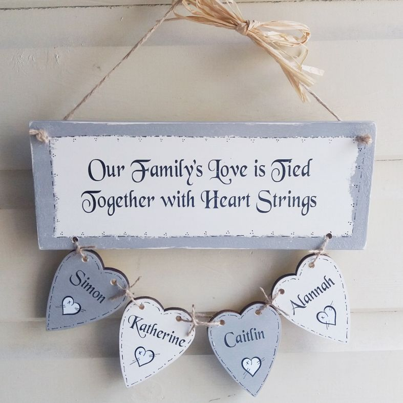 Personalised wooden family tree keepsake gift for family | PhotoFairytales