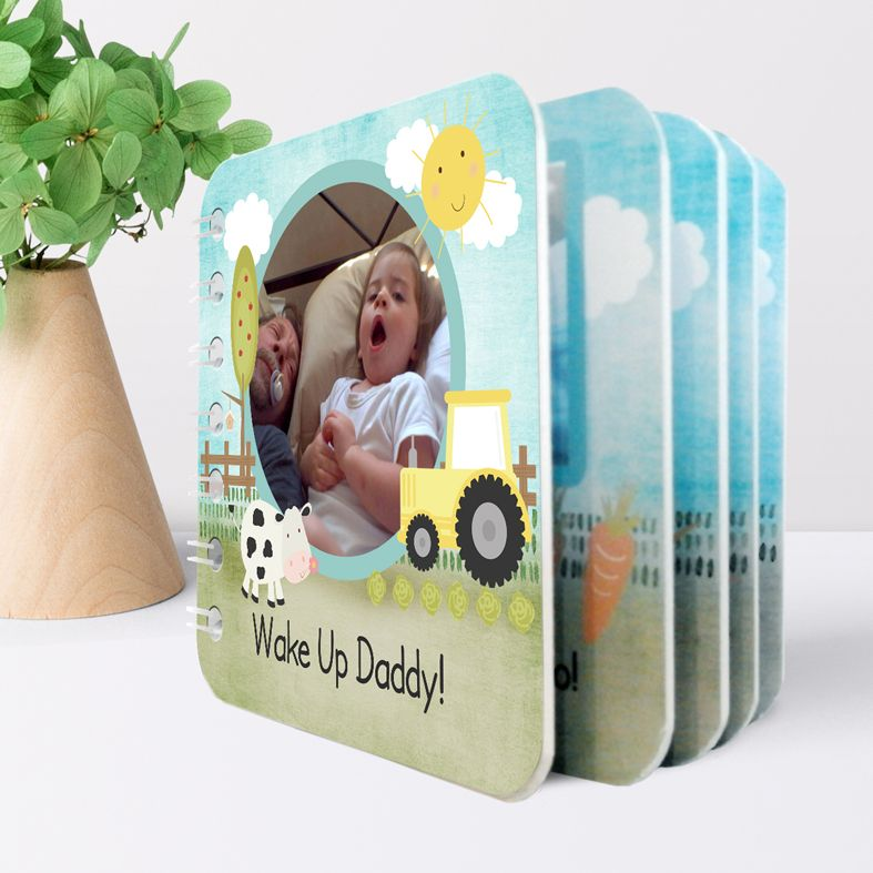 Personalised handmade baby board book from PhotoFairytales #babygift