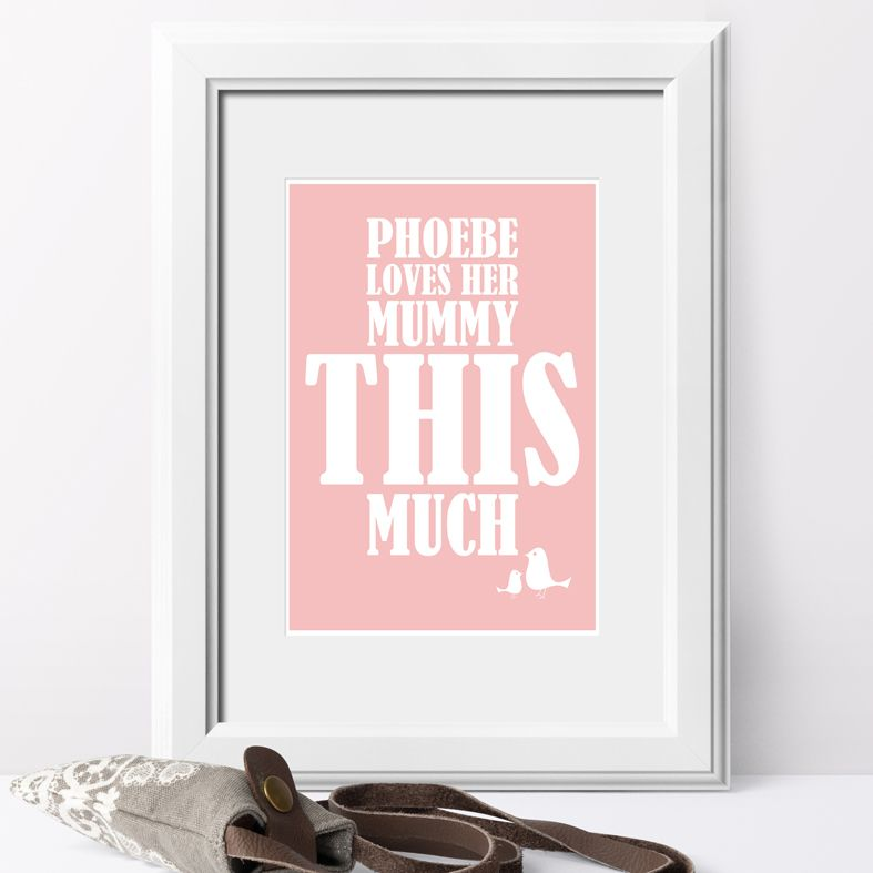 I love you this much personalised love prints