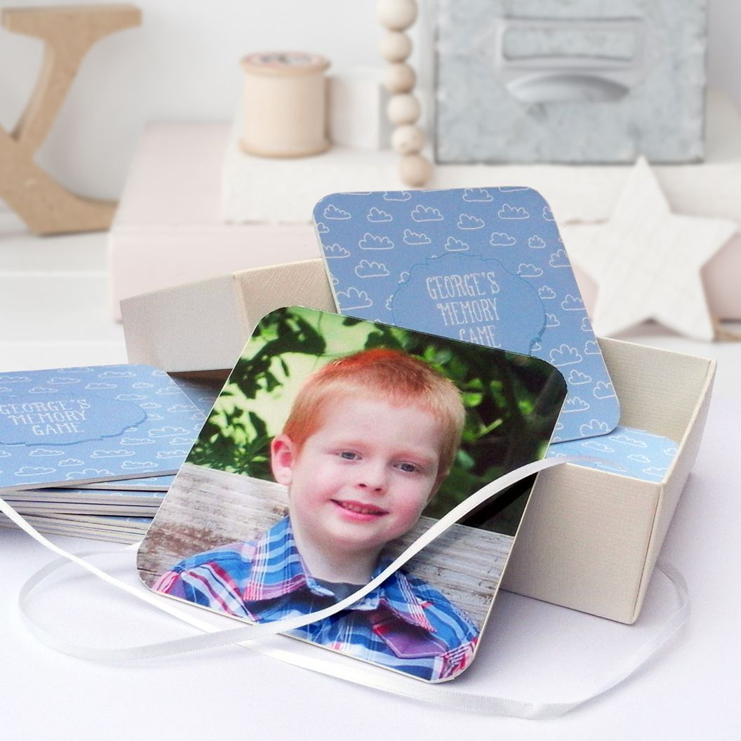 Personalised handmade memory pairs game photo gift child