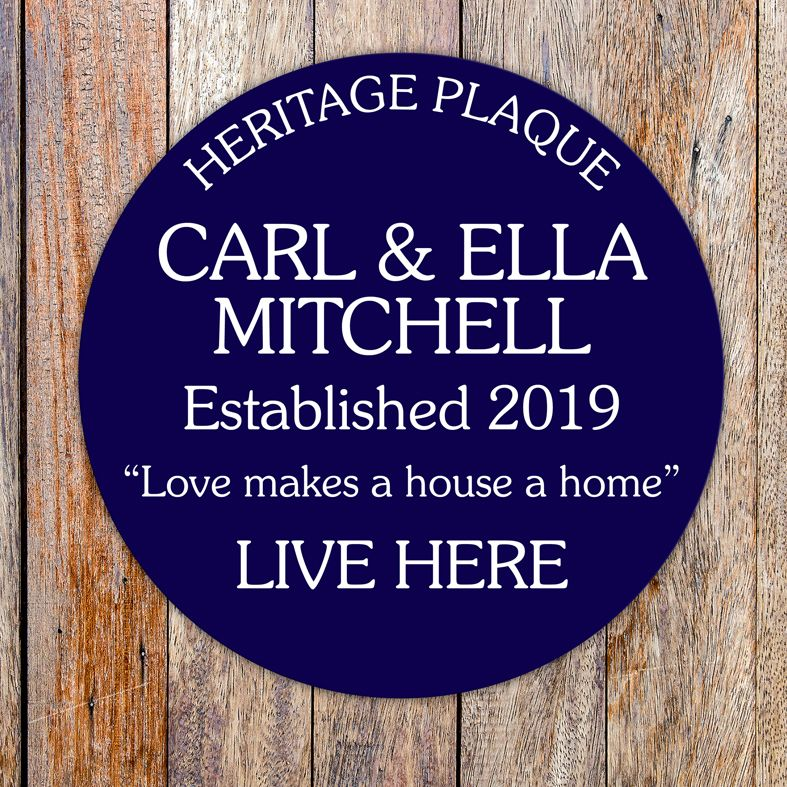 Personalised Heritage Blue Plaques with any wording | give them the recognition they deserve with their own personalised blue plaque! Mimics the iconic plaques on the houses of the famous, handmade to order, free P&P - from PhotoFairytales.