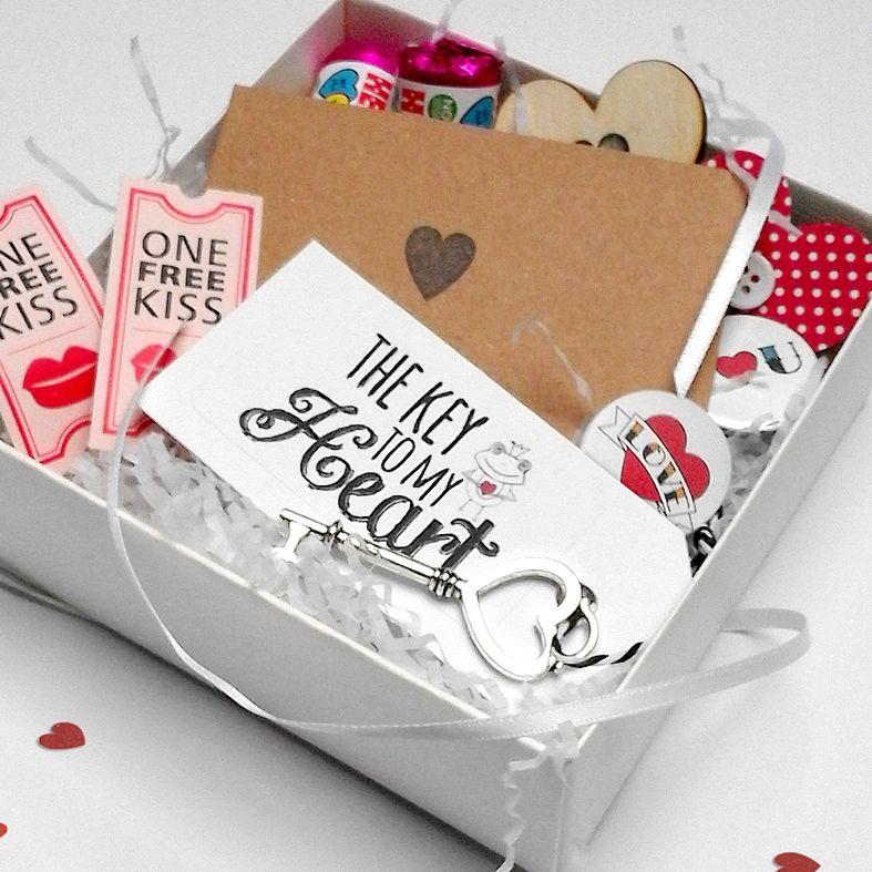 Personalised handmade love gift box mini hamper valentine gift