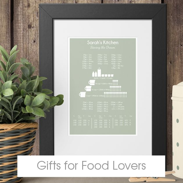 personalised gifts for cooks bakers | handmade kitchen gifts | bespoke food lovers gifts from PhotoFairytales