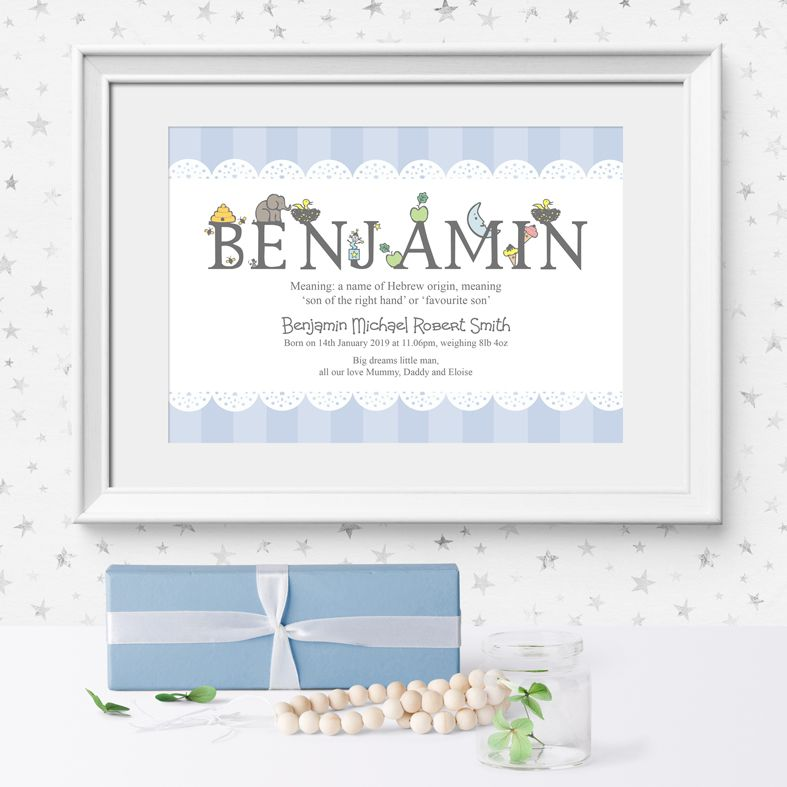 Personalised Alphabet nursery print | bespoke baby christening gifts from PhotoFairytales