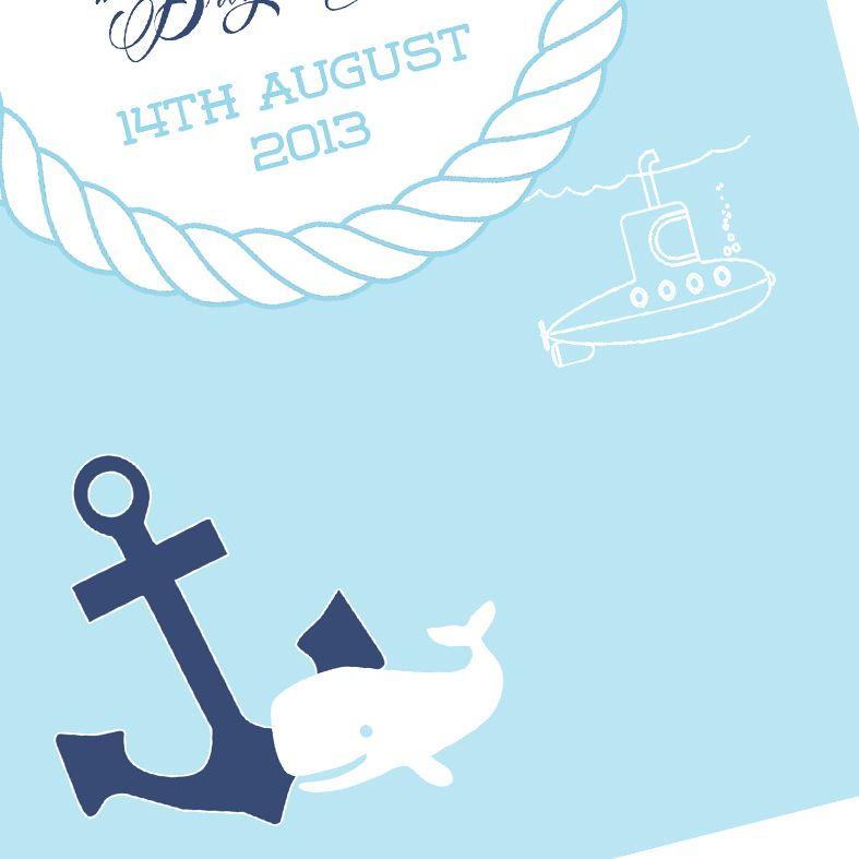 Nautical name meaning nursery baby print
