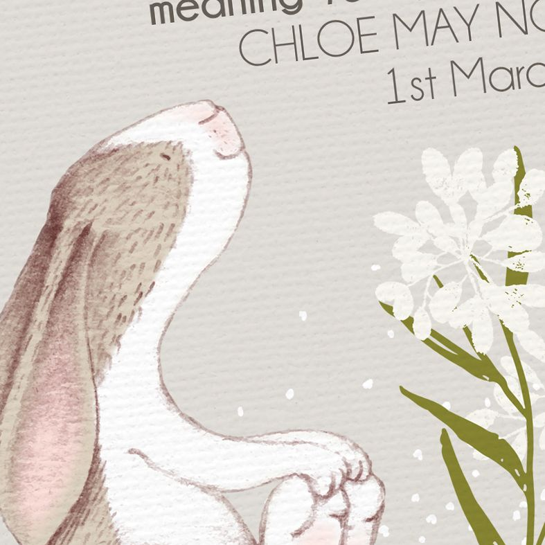 Little Hare name meaning nursery baby print