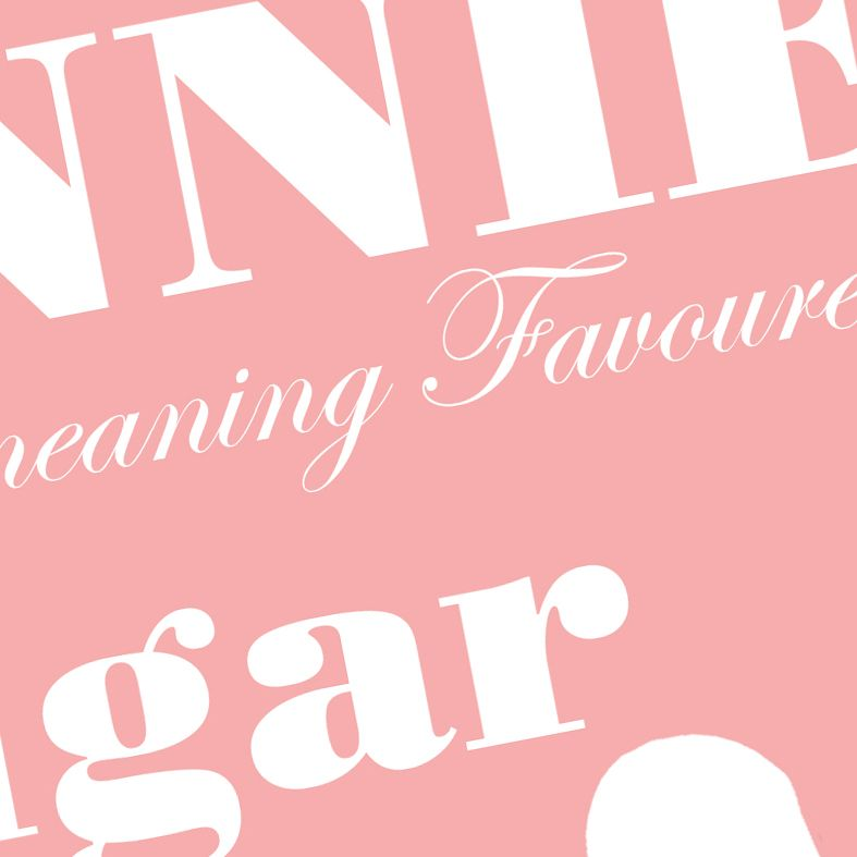Sugar and Spice name meaning nursery baby print